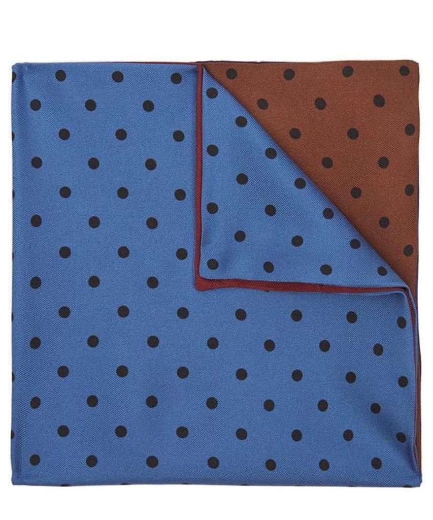 Contrast Polka Dot Pocket Square