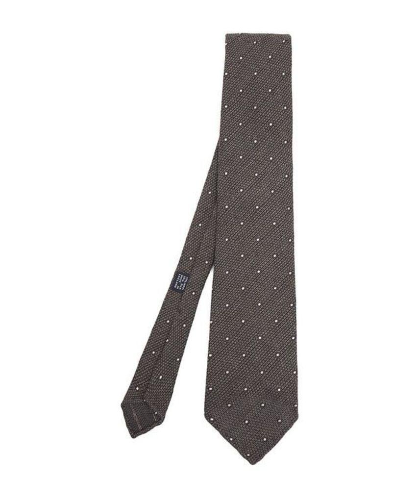 Polka Dot Wool-Blend Tie