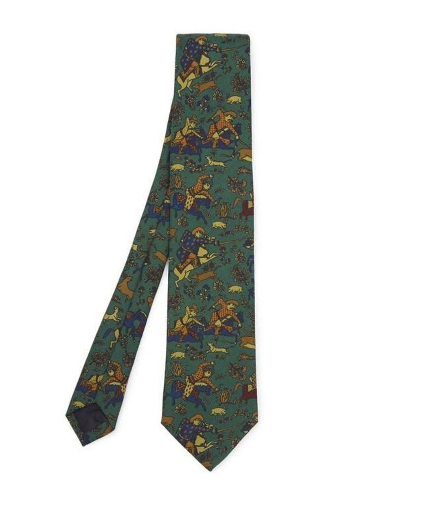 Hunt Challis Wool Tie