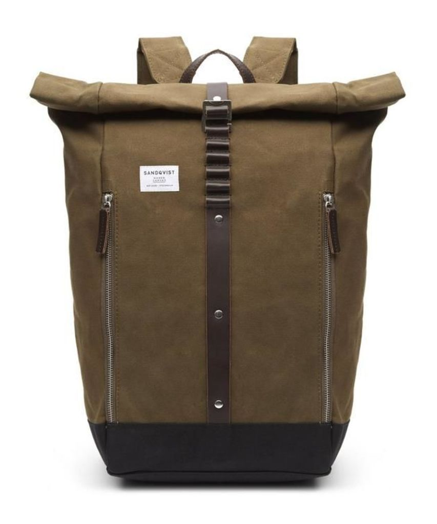 Rolf Roll-Top Waxed Canvas Backpack