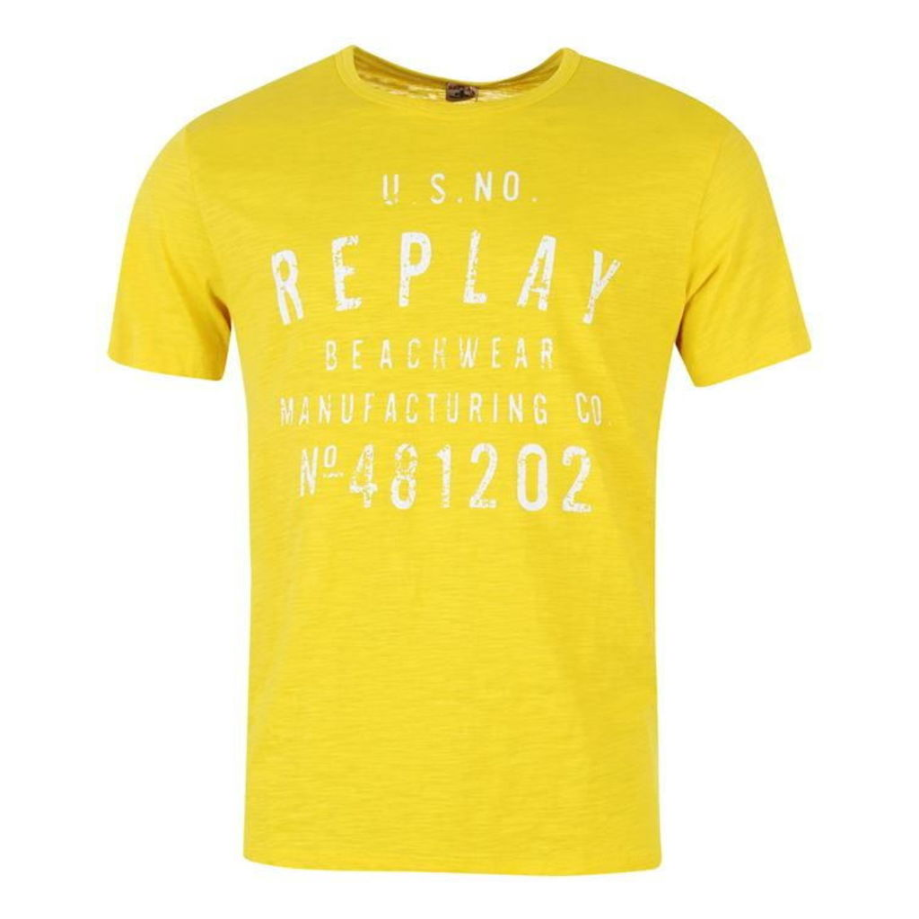 Replay Beachwear T Shirt Mens
