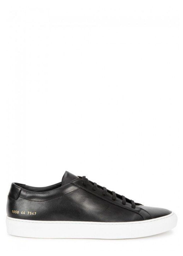 Common Projects Achilles Black Leather Trainers - Size 7