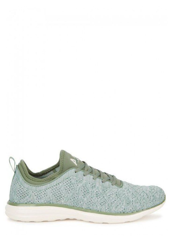Athletic Propulsion Labs TechLoom Phantom Mint Knitted Trainers - Size 10