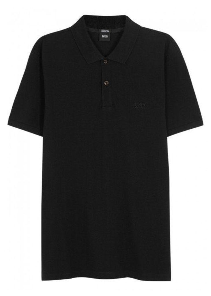 HUGO BOSS BLACK Pallas Piqué Cotton Polo Shirt - Size S
