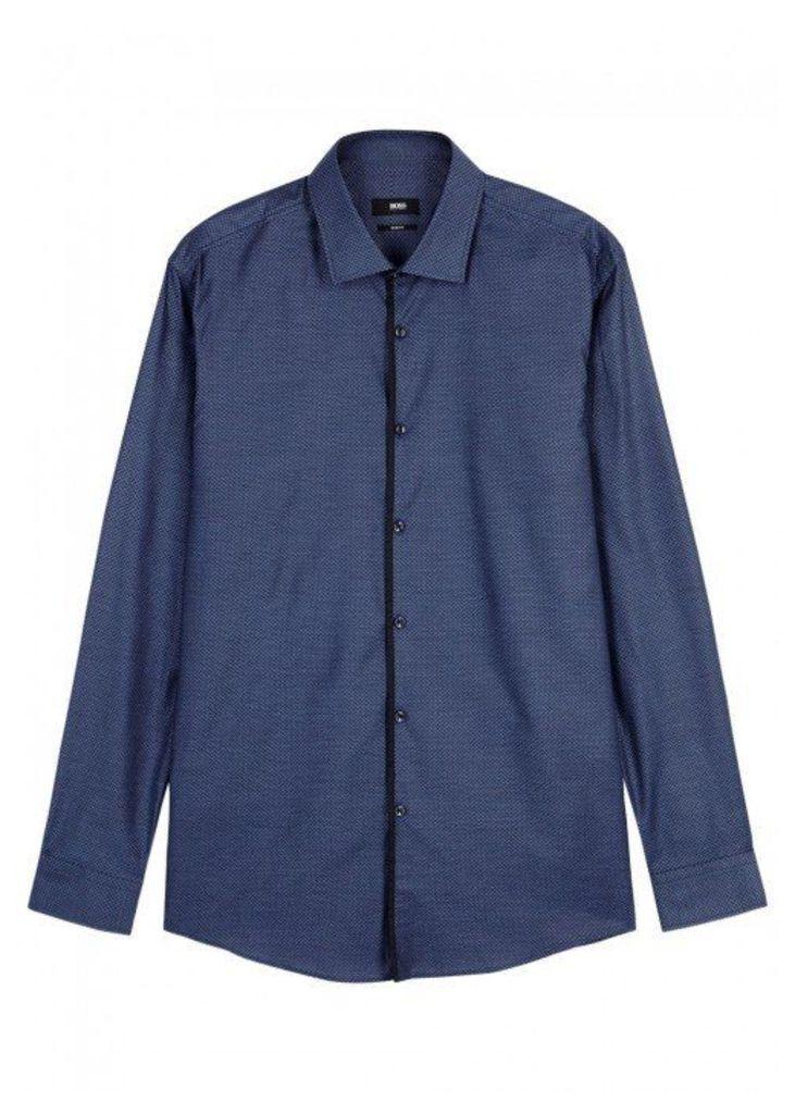 HUGO BOSS BLACK Jelorik Cotton Jacqaurd Shirt - Size 15