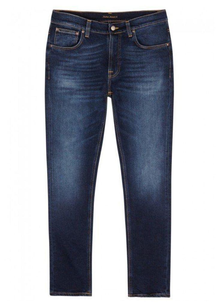 Nudie Jeans Lean Dean Indigo Slim-leg Jeans - Size W33/L32