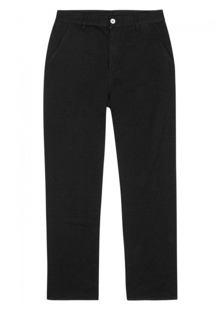 Our Legacy Black Overdyed Cotton Chinos - Size L