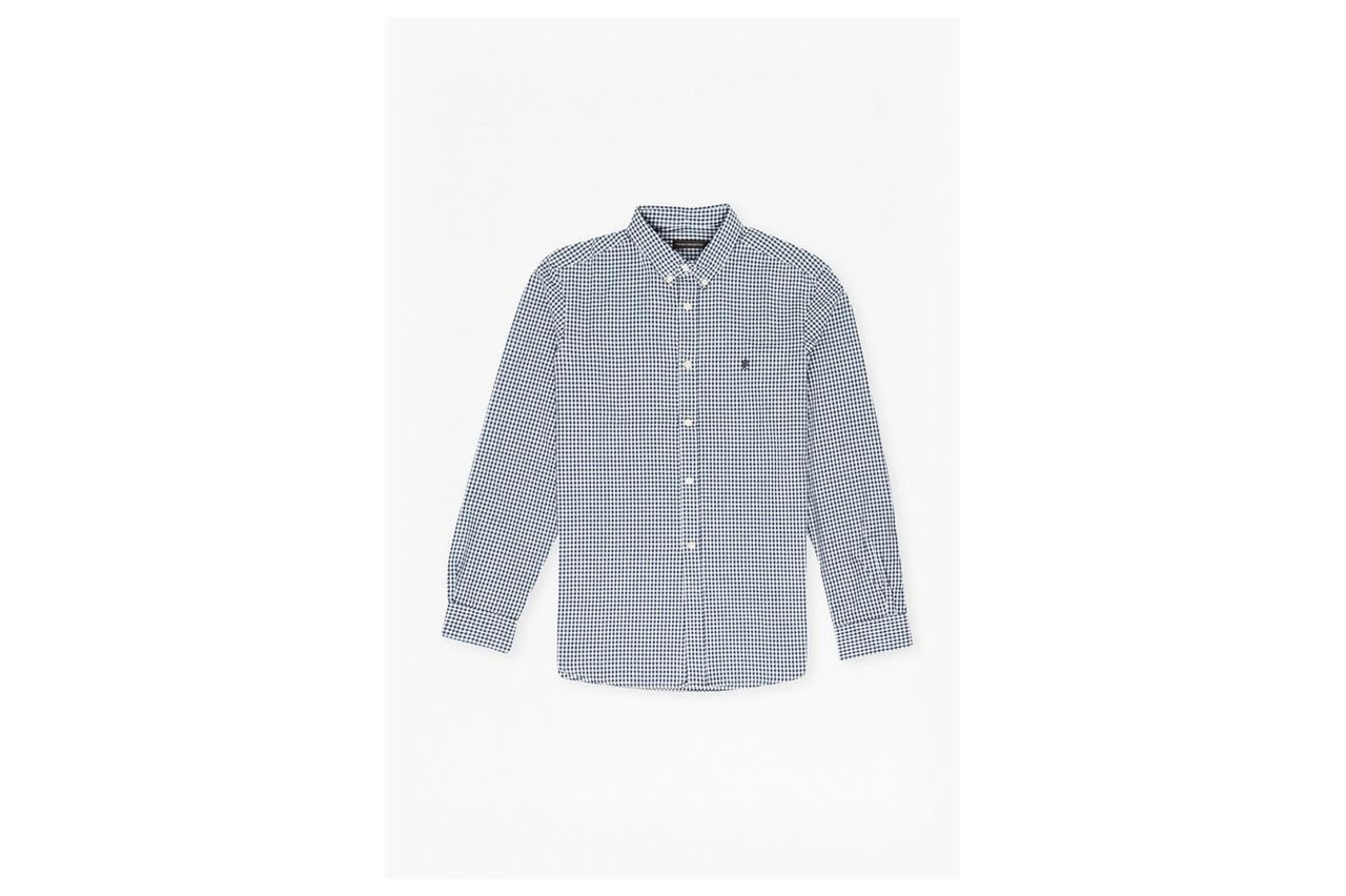 Check And Stripe Long Sleeved Shirt - blue gingham