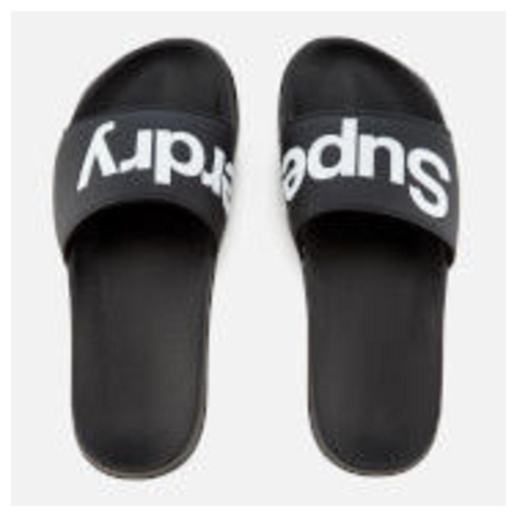 Superdry Men's Pool Slide Sandals - Black/Optic - M - Black