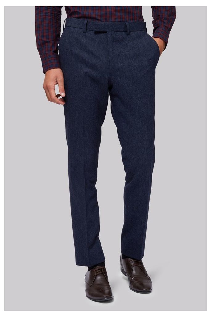 Moss London Blue Donegal Trousers