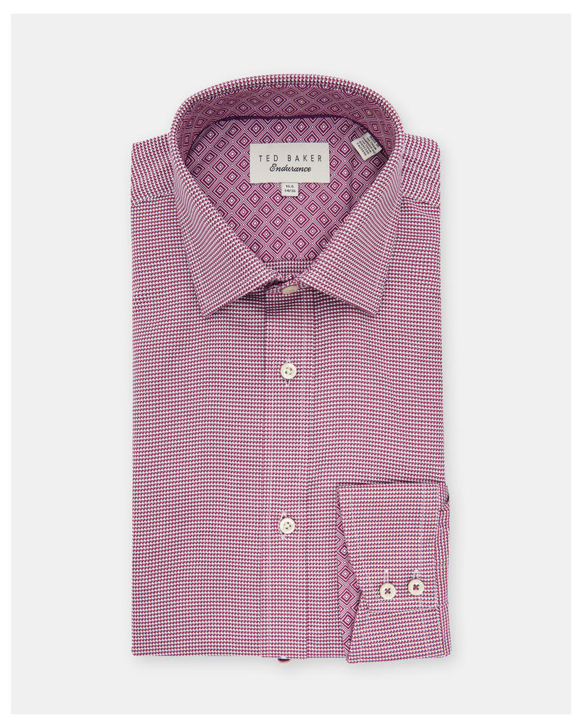 Ted Baker Zig-zag print cotton shirt Pink