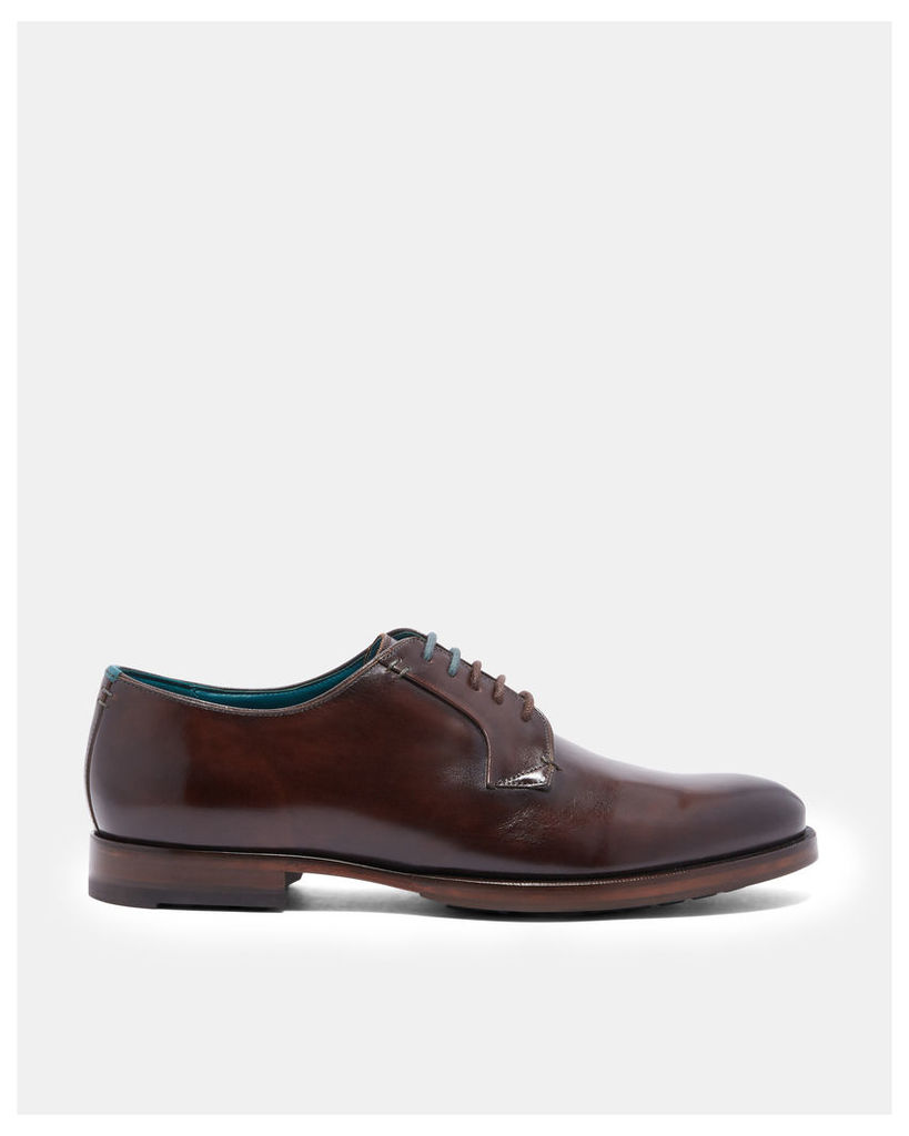 Ted Baker Shiny leather derby shoes Brown