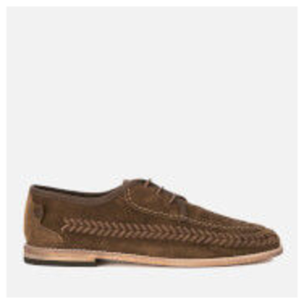 Hudson London Men's Anfa Suede Lace Up Weave Shoes - Tobacco