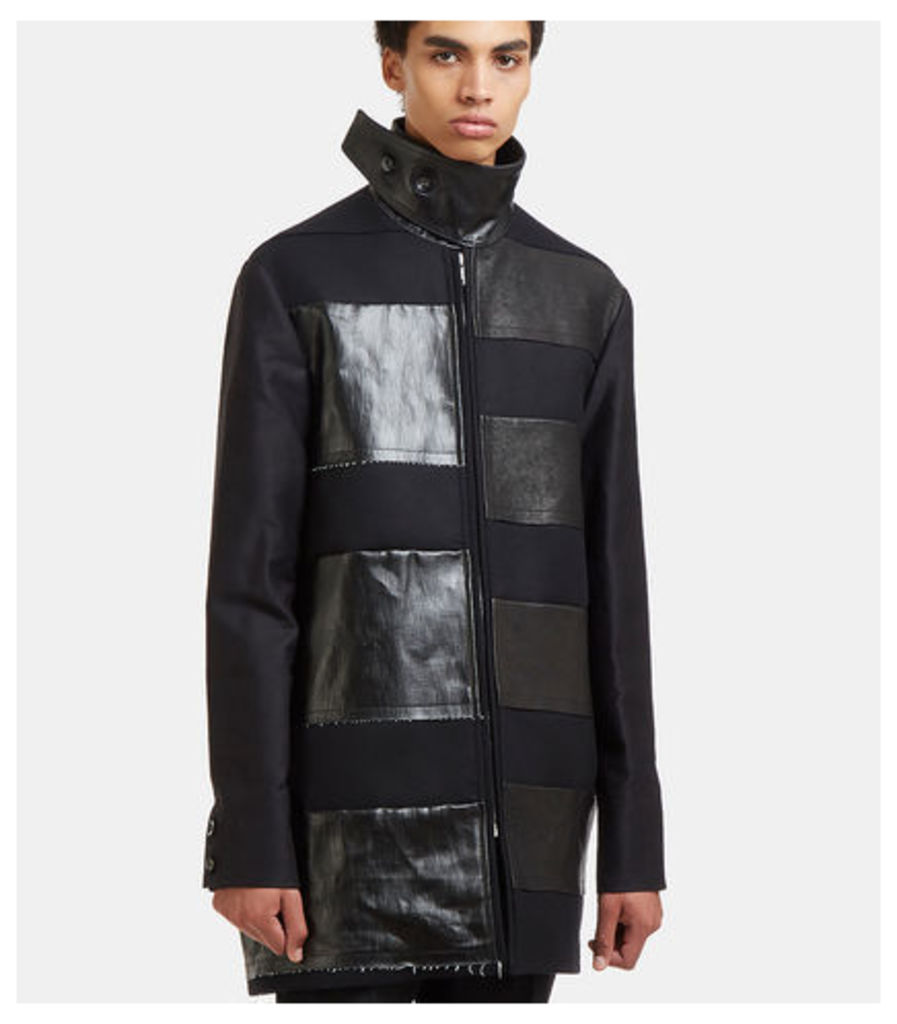 Jumbo Brother Leather Patch Coat