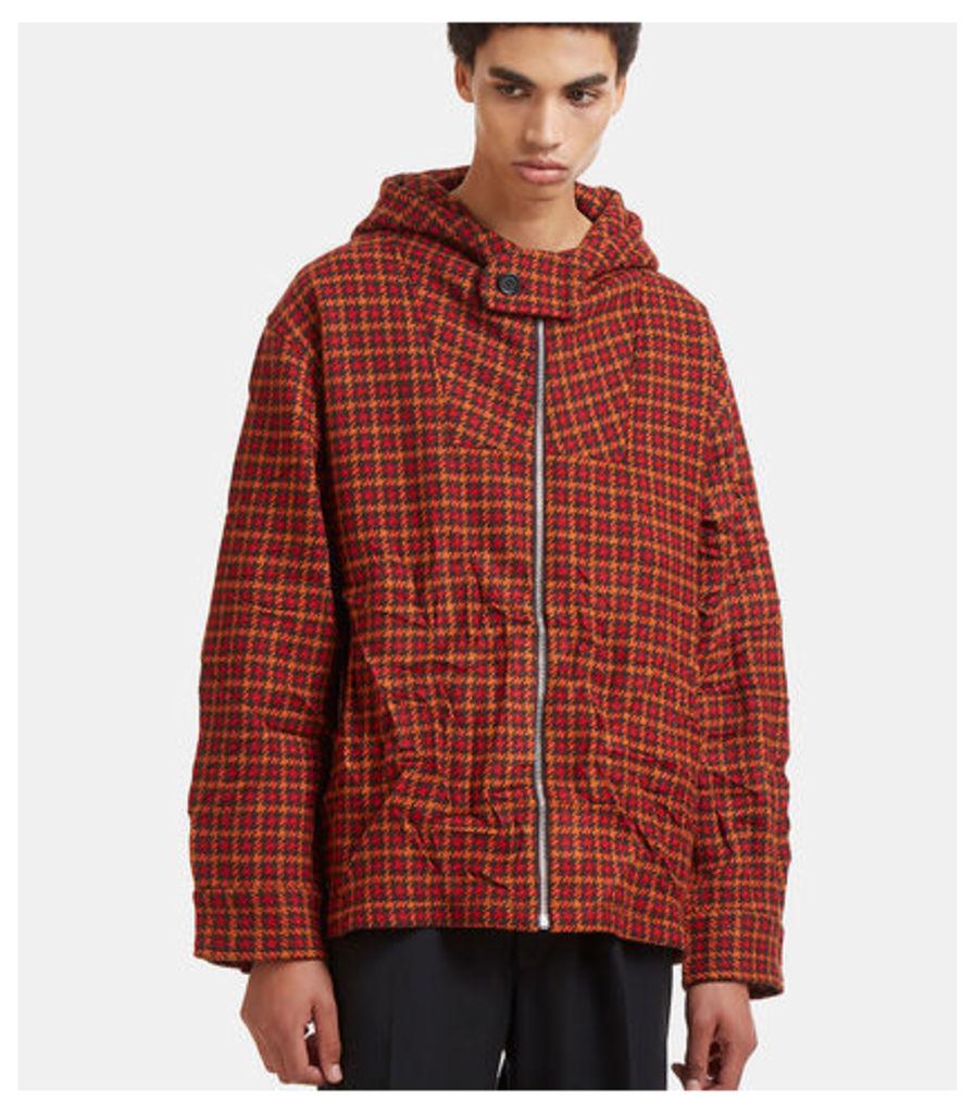Oversized Tweed Hooded Jacket