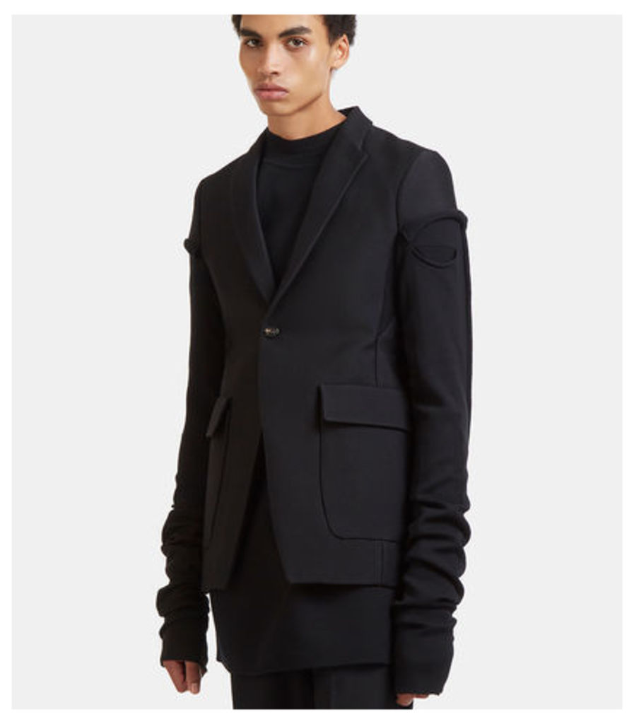 Weakling Long Sleeved Deconstructed Blazer Jacket