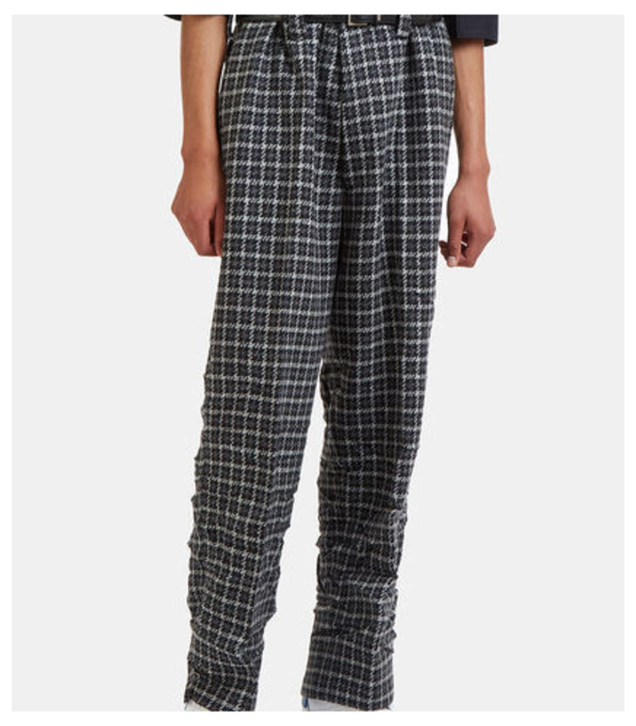 Oversized Wide Leg Tweed Pants