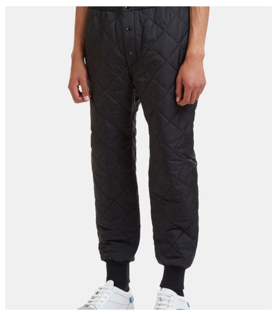 Diamond-Quilted Snap Stud Pants