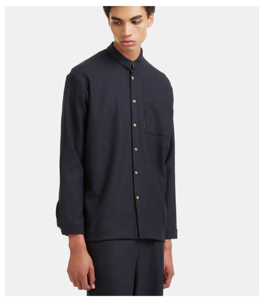 Dropped Sleeve Patch Pocket Shirt