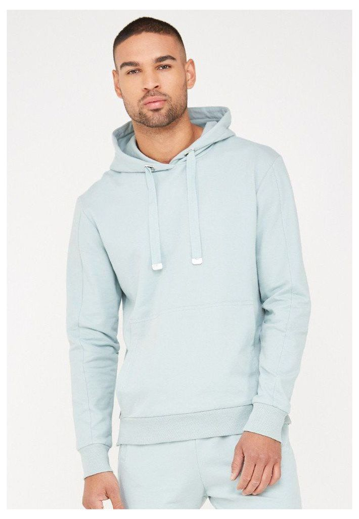Hoodie with Eyelet Detail - Mint Green