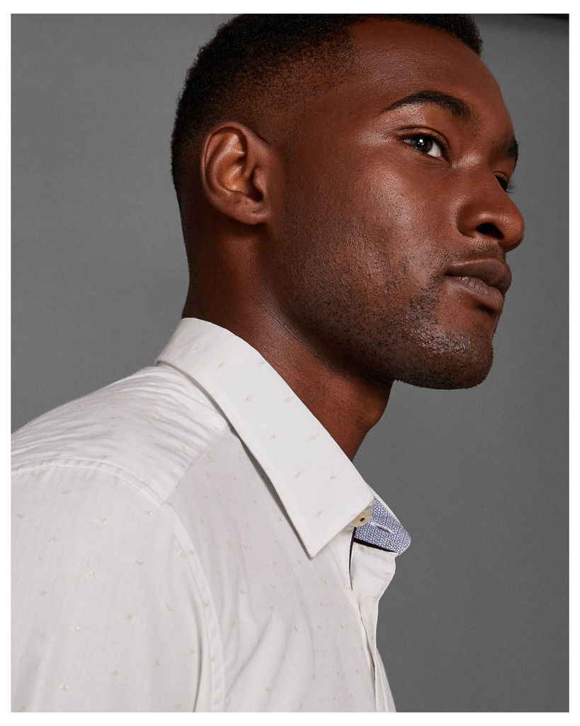Ted Baker Fil-coupé shirt White