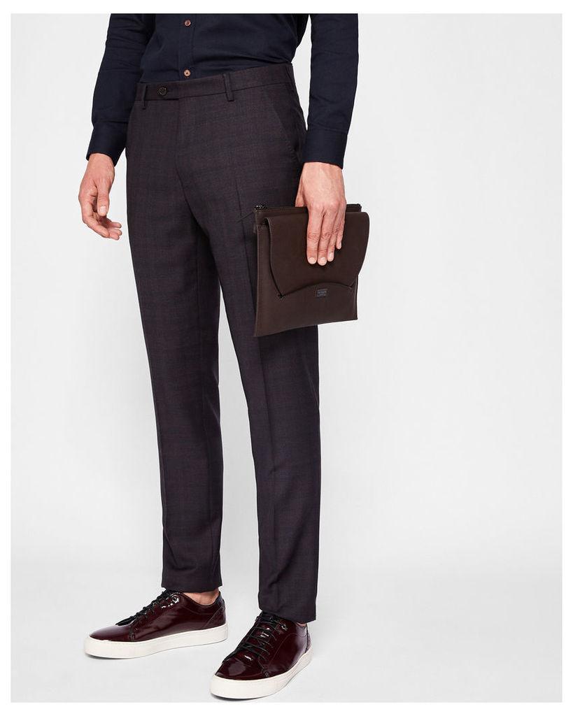 Ted Baker Debonair check suit trousers Purple