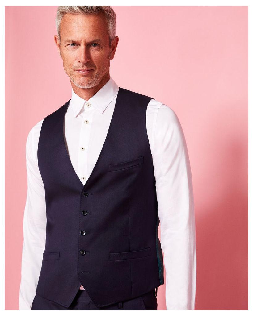 Ted Baker Debonair wool waistcoat Dark Blue