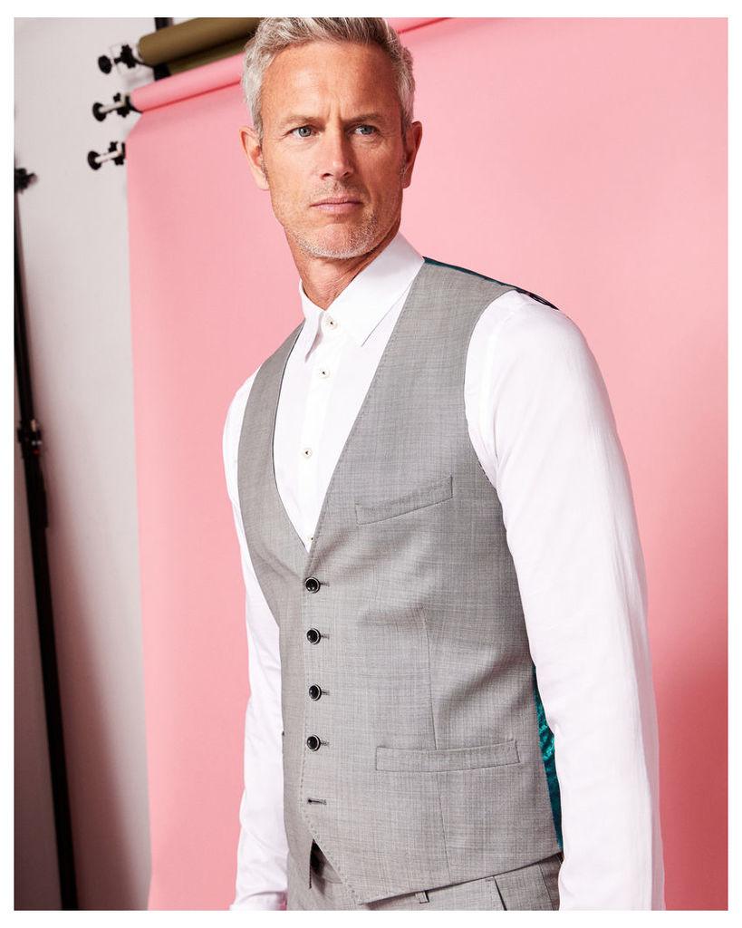 Ted Baker Debonair wool waistcoat Light Grey