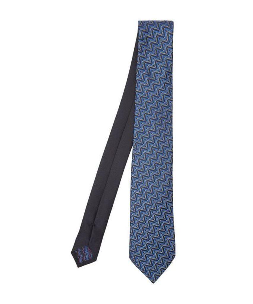 Tricolour Zig-Zag Woven Tie