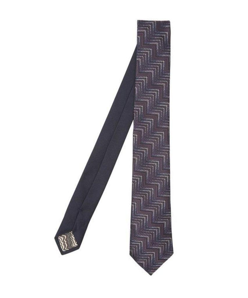 Block Zig-Zag Woven Tie