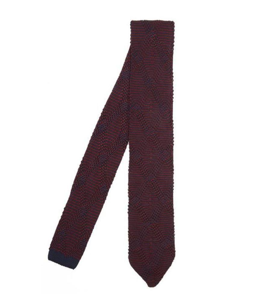Diamond Stripe Knitted Tie