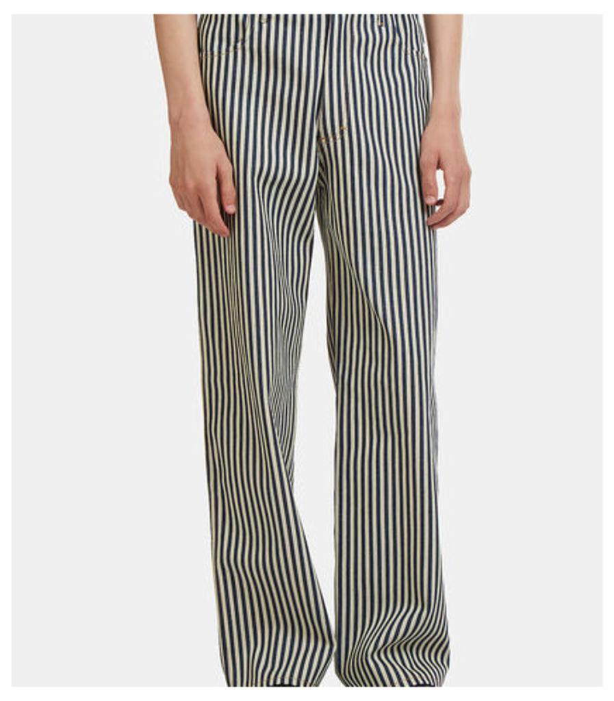 Striped Wide Leg Jeans