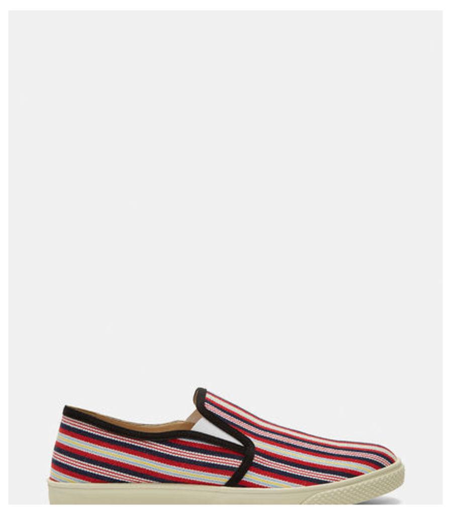 Woven Stripe Slip-On Sneakers