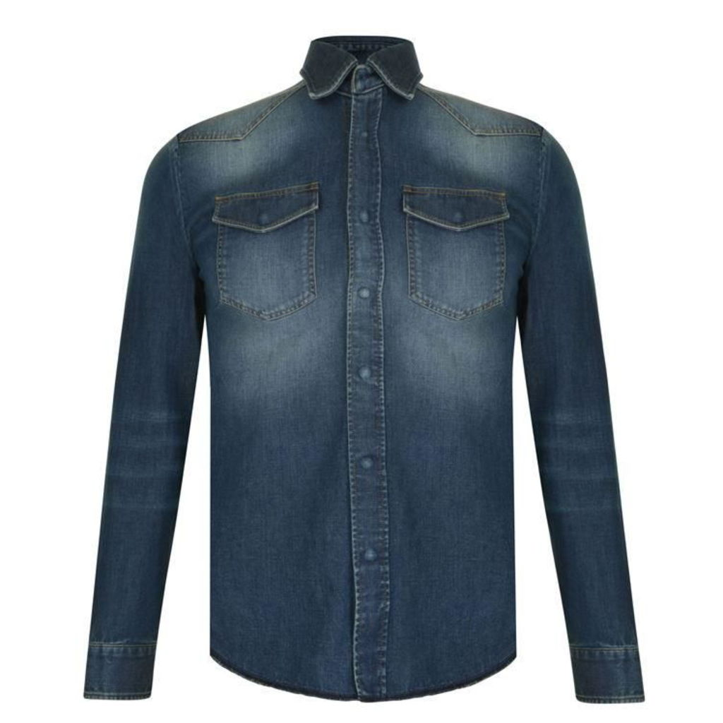 MAISON MARGIELA Vintage Wash Denim Shirt
