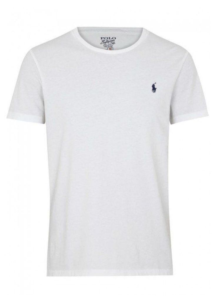 Polo Ralph Lauren White Cotton T-shirt - Size XL