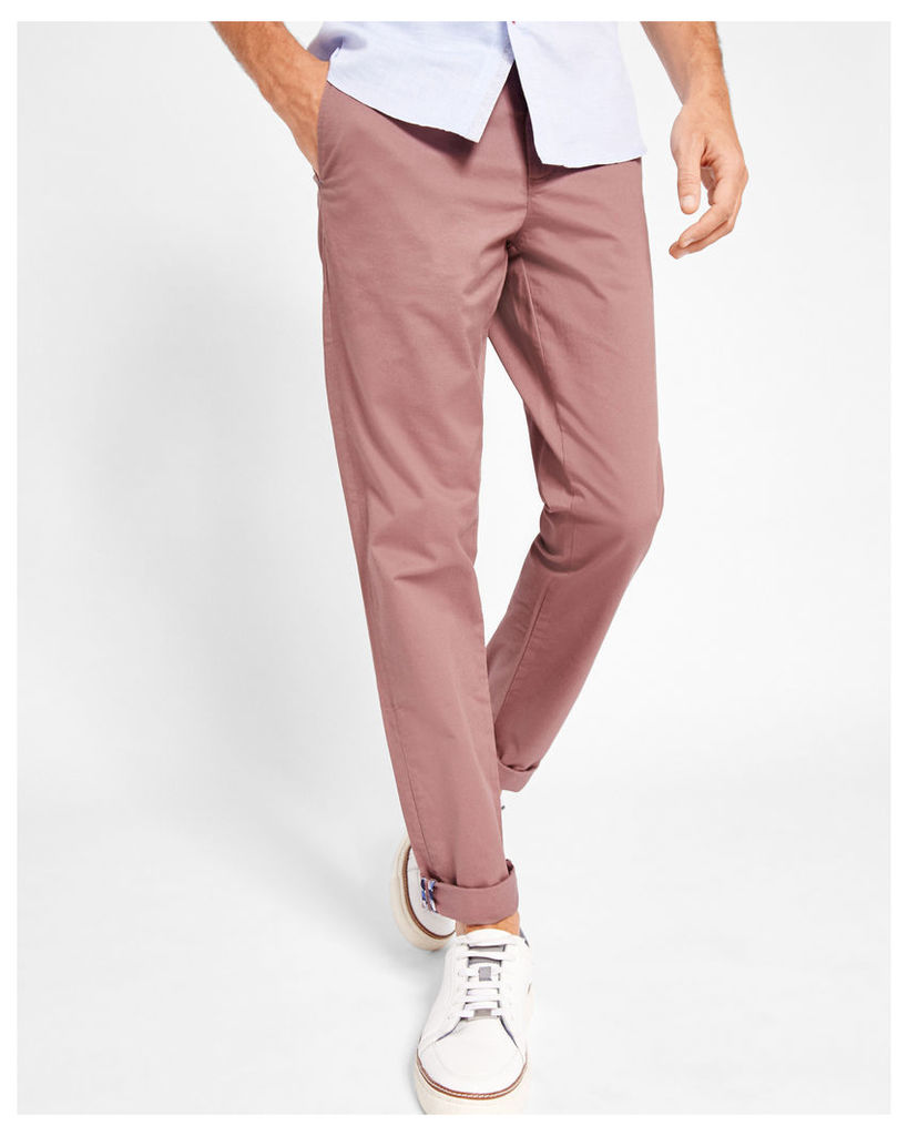 Ted Baker Classic fit chinos Pink