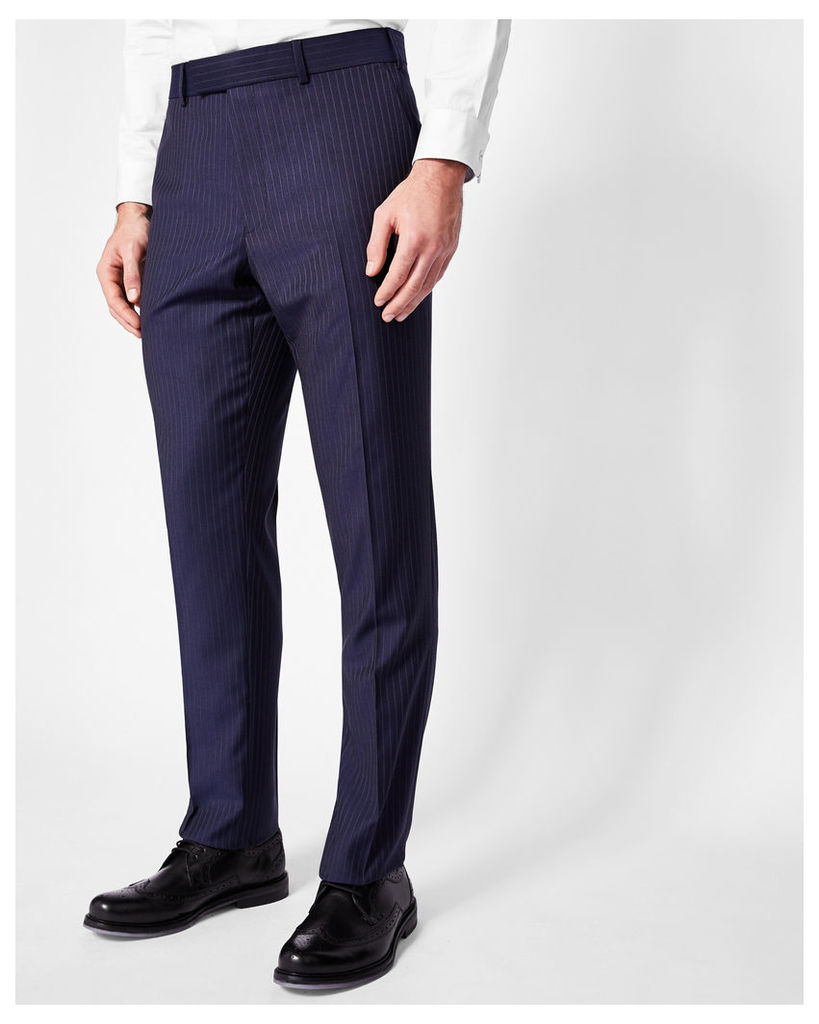 Ted Baker Sterling pin striped wool trousers Blue