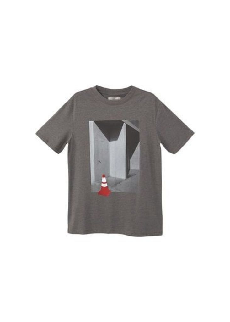 Printed picture cotton t-shirt