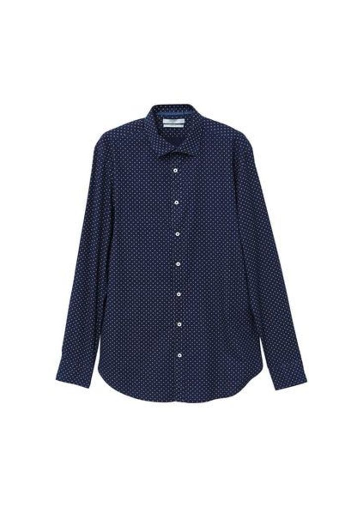 Slim-fit cross print shirt