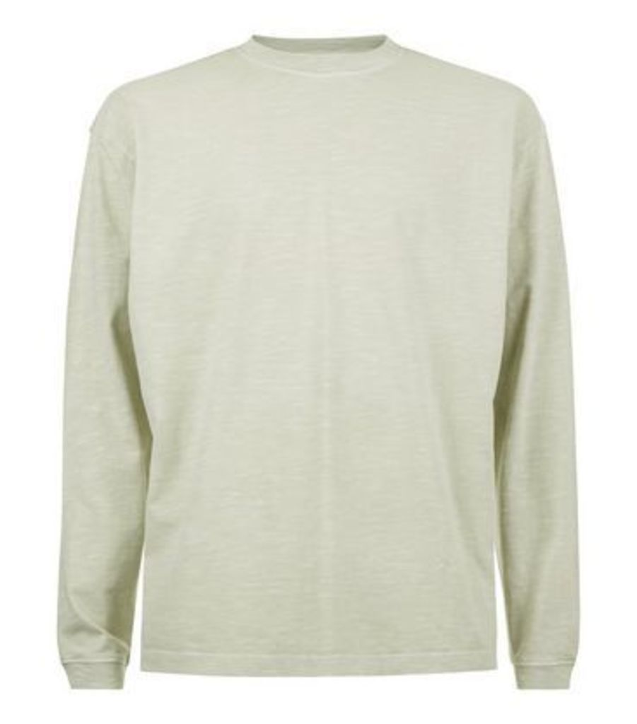 Grey Round Neck Long Sleeve T-Shirt New Look
