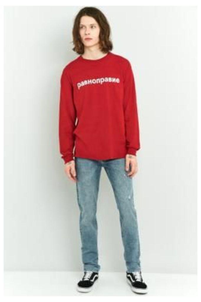 Cheap Monday Sonic Stone Wash Slim Fit Jeans, INDIGO