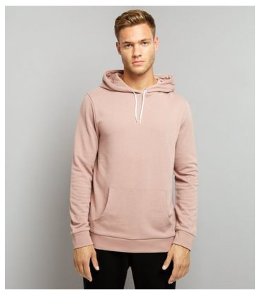 Pink Pocket Front Hoodie New Look