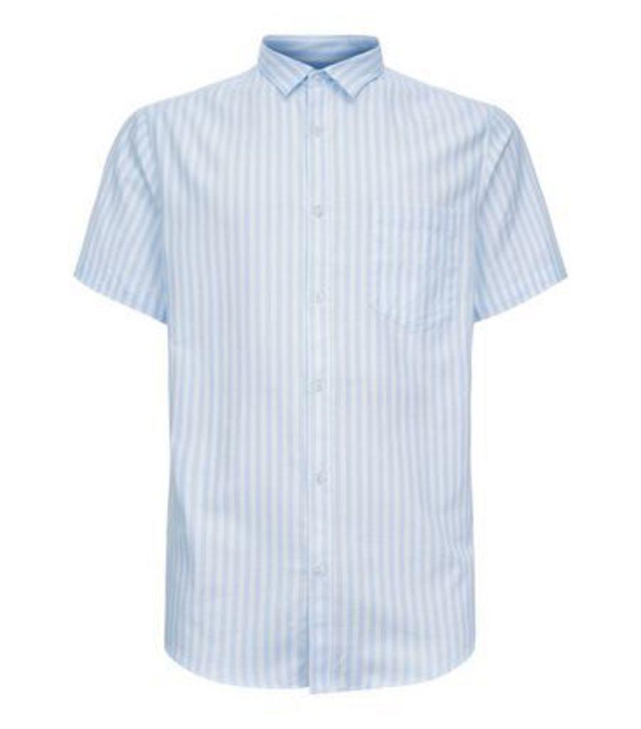 Blue Stripe Short Sleeve Shirt New Look