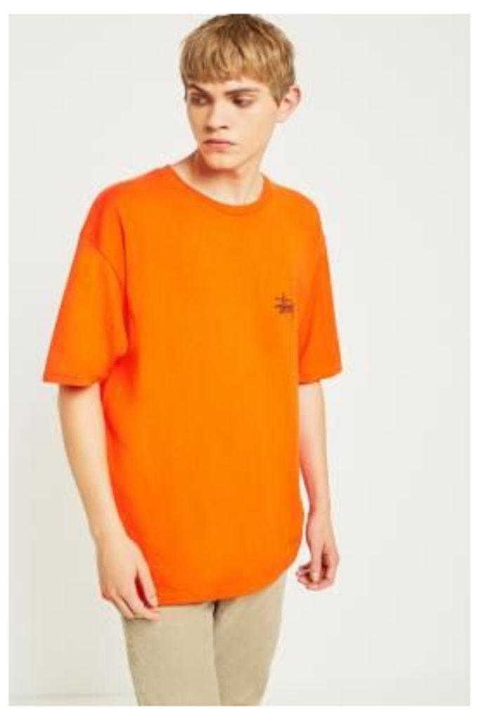 Stussy Basic Logo Orange Short-Sleeve T-shirt, ORANGE