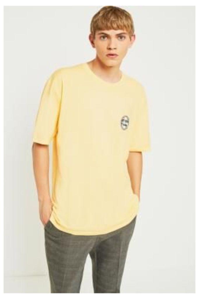 Stussy Surf Dot Pale Yellow T-shirt, MUSTARD