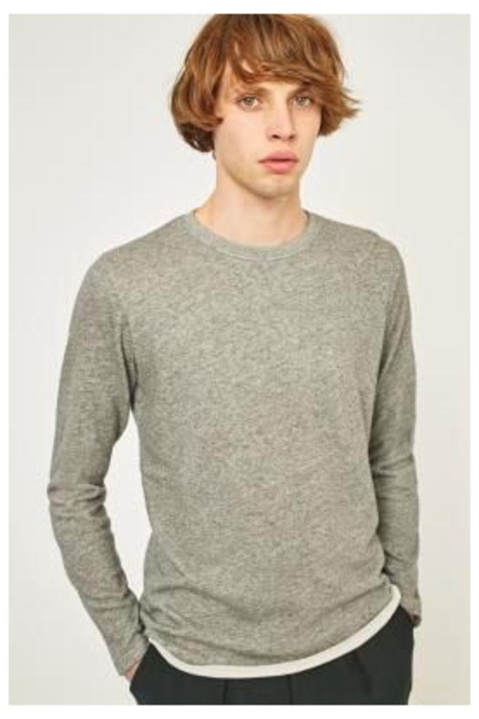 Edwin Dark Grey Heather Long-Sleeve T-shirt, DARK GREY