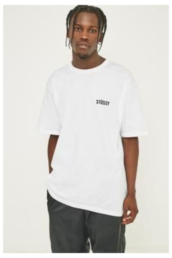 Stussy Catch A Fire White T-shirt, WHITE