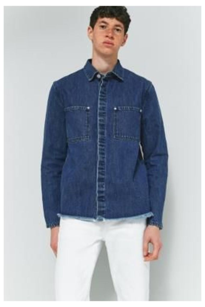 Cheap Monday Mid Encore Blue Denim Overshirt, INDIGO