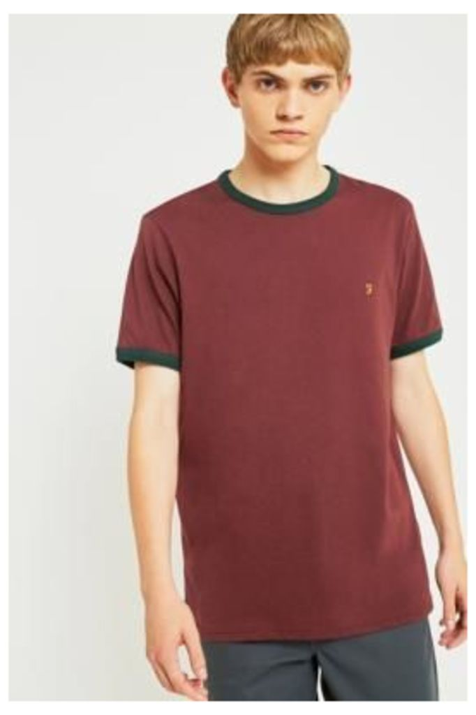 Farah Groves Red Ringer T-shirt, MAROON