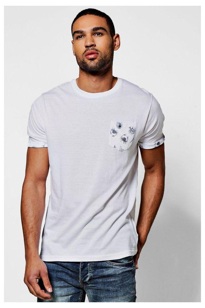 Print T shirt - white